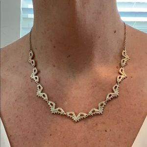 BR delicate light gold choker necklace